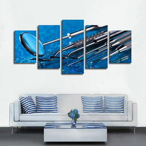 Dental Tools Multi Panel Canvas Wall Art - Dental