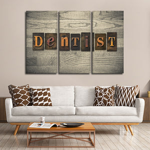 Dentist Multi Panel Canvas Wall Art - Dental