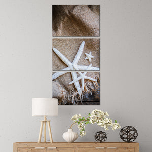 Starfish Love Multi Panel Canvas Wall Art - Nautical