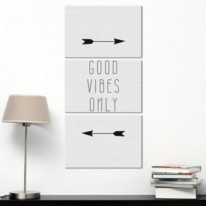 Good Vibes This Way Multi Panel Canvas Wall Art - Inspiration