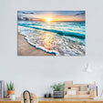 Sunrise in Tulum Multi Panel Canvas Wall Art