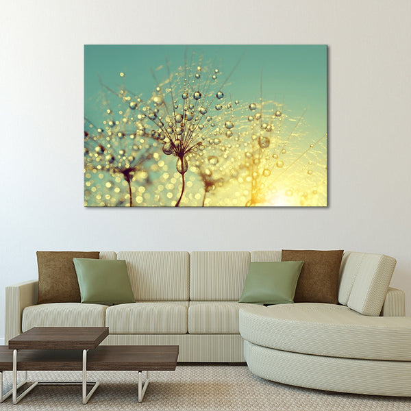 Dewy Flower Multi Panel Canvas Wall Art | ElephantStock