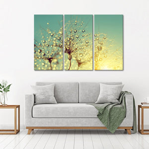Dewy Flower Multi Panel Canvas Wall Art - Nature