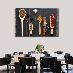 Different Spices Multi Panel Canvas Wall Art - Kitchen