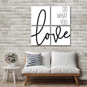 Do What You Love Multi Panel Canvas Wall Art - Inspiration