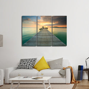Dock Of The Bay Multi Panel Canvas Wall Art - Beach