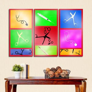 Doctor Tools Multi Panel Canvas Wall Art - Medical