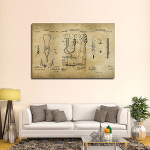Doctor Patent Compilation Multi Panel Canvas Wall Art - Medical