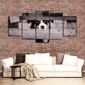 Dog Gaze Multi Panel Canvas Wall Art - Dog