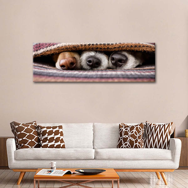 Dogs' Noses Multi Panel Canvas Wall Art