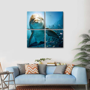 Dolphin Look Multi Panel Canvas Wall Art - Dolphin