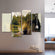 Double Exposure Wolf Multi Panel Canvas Wall Art