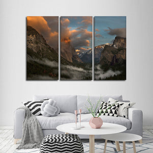 Down in the Valley Multi Panel Canvas Wall Art - Nature