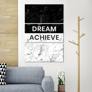 Dream Achieve Multi Panel Canvas Wall Art - Inspiration