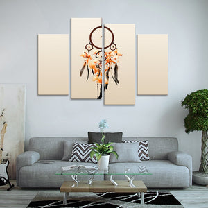 Dream Catcher Multi Panel Canvas Wall Art - Native_american