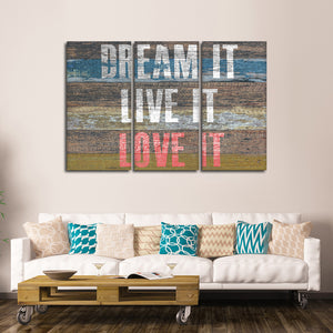 Dream It Multi Panel Canvas Wall Art - Inspiration