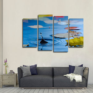 Drip Drop Multi Panel Canvas Wall Art - Nature