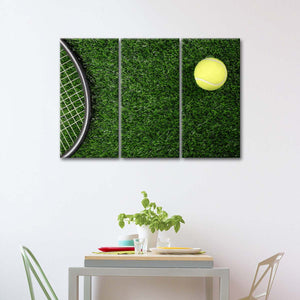 Drop Shot Win Multi Panel Canvas Wall Art - Tennis