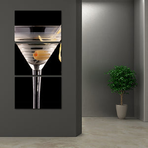 Dry Martini Multi Panel Canvas Wall Art - Winery