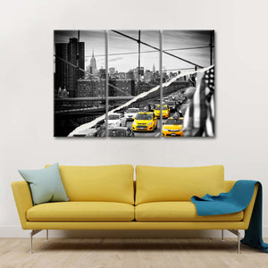 Dual Torn NYC Multi Panel Canvas Wall Art - City