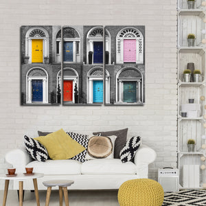 Dublin Doors Pop Multi Panel Canvas Wall Art - Color