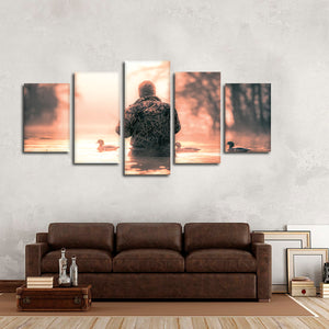 Duck Hunting Multi Panel Canvas Wall Art - Hunting