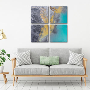 Dynamic Colors of Nature Multi Panel Canvas Wall Art - Aerial
