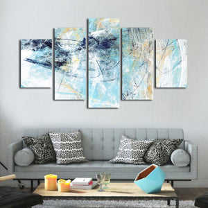 Dynamic Painting Texture Multi Panel Canvas Wall Art - Abstract