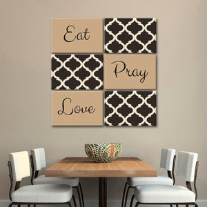 Eat Pray Love Canvas Set Wall Art - Inspiration