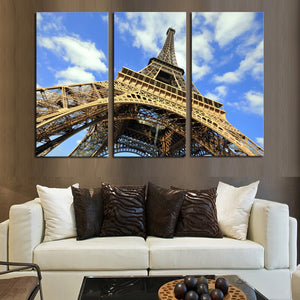 La Tour Eiffel Multi Panel Canvas Wall Art - Paris