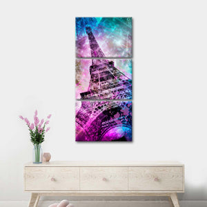 Eiffel Photomontage Multi Panel Canvas Wall Art - Paris