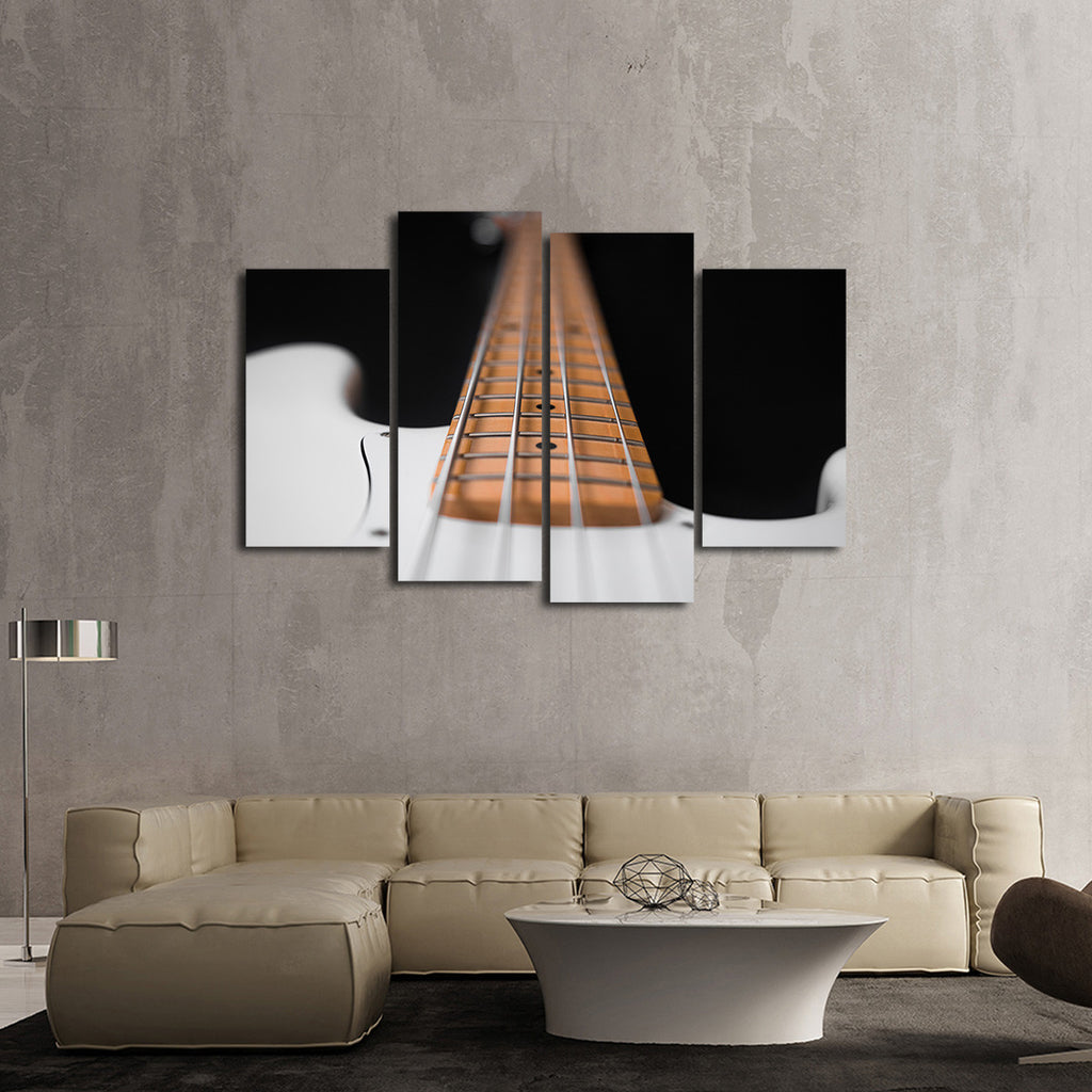 electric bass guitar multi panel canvas wall art elephantstock. Black Bedroom Furniture Sets. Home Design Ideas