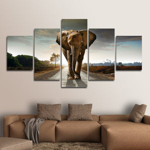Elephant Stock Multi Panel Canvas Wall Art - Elephant