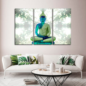 Emerald Energy Multi Panel Canvas Wall Art - Buddhism