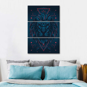 Enchanting Lion Multi Panel Canvas Wall Art - Lion