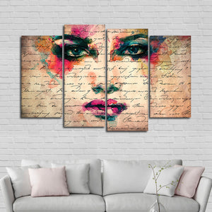 Enchantress Multi Panel Canvas Wall Art - Portrait