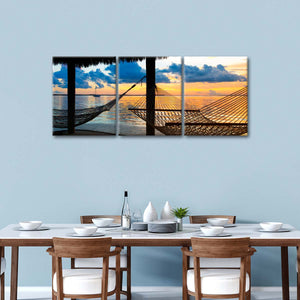 End Of The Day Multi Panel Canvas Wall Art - Beach
