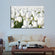 Endless White Tulips Multi Panel Canvas Wall Art