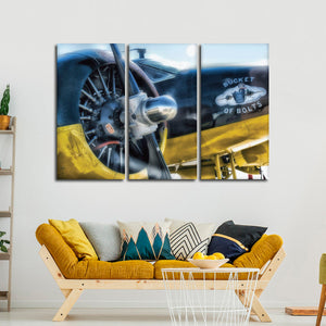 Engine Bolts Multi Panel Canvas Wall Art - Airplane