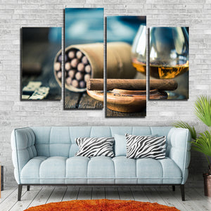 Enjoy the Moment Multi Panel Canvas Wall Art - Whiskey