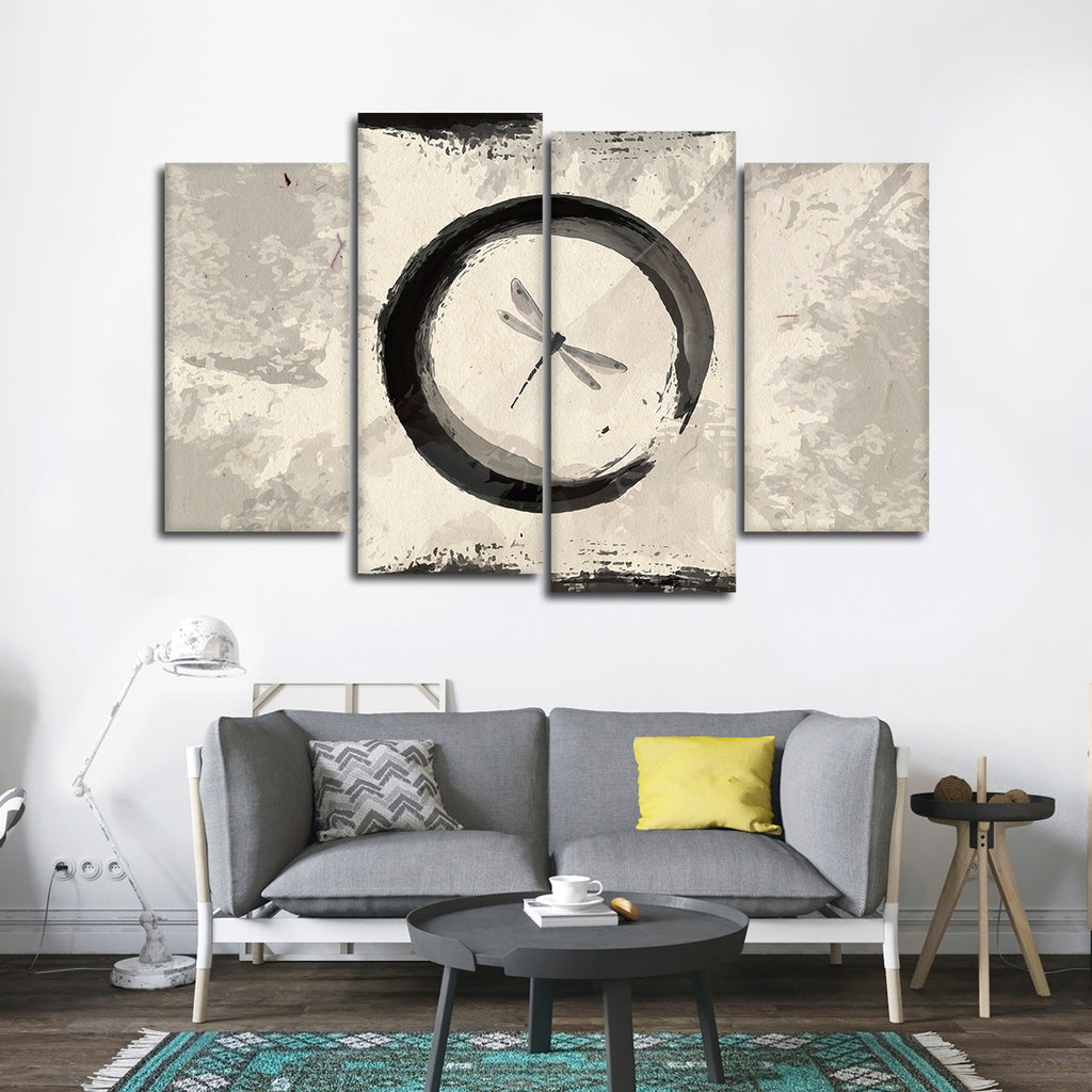 Enso Dragonfly Multi Panel Canvas Wall Art