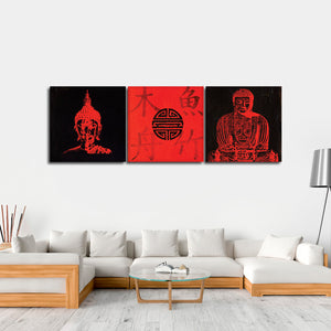 Essentials Of Buddha Multi Panel Canvas Wall Art - Buddhism