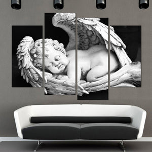 Baby Angel Multi Panel Canvas Wall Art - Religion