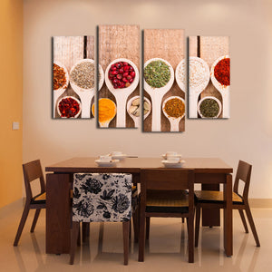 Exotic Flavors Multi Panel Canvas Wall Art - Kitchen