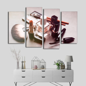Expensive Taste Multi Panel Canvas Wall Art - Makeup