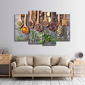 Exquisite Flavors Multi Panel Canvas Wall Art - Kitchen
