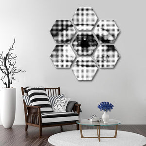 Eye Illusion Multi Panel Canvas Wall Art - Abstract