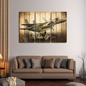 F15 Eagle Fighter Multi Panel Canvas Wall Art - Airplane