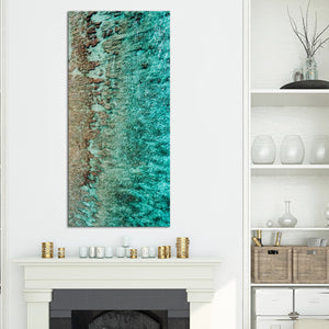 Maldives Breathtaking Crystal Ocean Multi Panel Canvas Wall Art - Beach