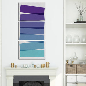 Violet Illusion Multi Panel Canvas Wall Art - Geometric